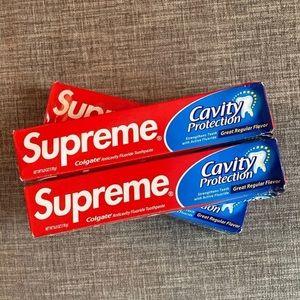 Supreme x Colgate Toothpaste FW 20
